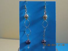Gold Dangle Earrings Hand created in USA. by mikes for $6.00