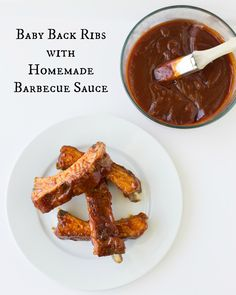 Baby Back Ribs with Homemade Barbecue Sauce are easy to make and delicious to eat. Broil them in the oven or throw them on your grill. | Culinary Hill