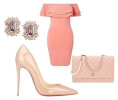 """Peach & Nude."" by cuntore on Polyvore featuring Miss Selfridge, Christian Louboutin and Chanel"