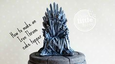 Game of Thrones cake topper - fondant Iron Throne