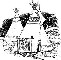 Tepee Coloring Page