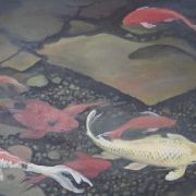 """""""My koi Pond"""" Cervantes at Total Art and Soul."""