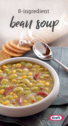 Bean Soup – Wow folks who say they don't like lima beans with this tasty Bean Soup recipe. Enhanced with bacon and smoked turkey sausage, this dish is sure to be a favorite on your dinner table. Lima Bean Recipes, Bean Soup Recipes, Sausage Recipes, Cooking Recipes, Healthy Recipes, Ww Recipes, Diabetic Recipes, East Crockpot Meals, Lima Bean Soup
