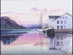 Line and Wash Watercolor Painting #2/Pintura de Waterscape con acuarelas - YouTube