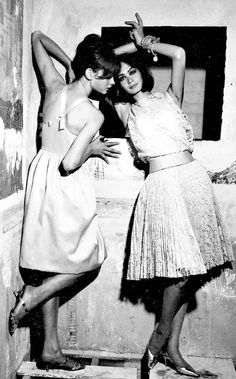Jean Shrimpton & Marie Lise Gres, 1961, by David Bailey for The Sunday Times