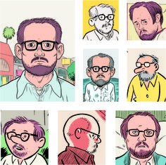 Modern Cartoonist Daniel Clowes Prefers Paper to iPad Daniel Clowes, Ghost World, Illustrators, Illustration Art, Novels, Comic Books, Cartoon, Paper, Modern