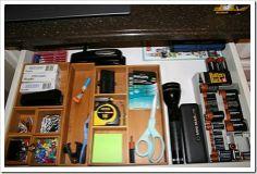 Honey We're Home: Organized KITCHEN {Simply LKJ} Kitchen Organization, Organizing Drawers, Organized Kitchen, Kitchen Drawers, Junk Drawer, Getting Organized, Kitchen Design, Home Improvement, House Design