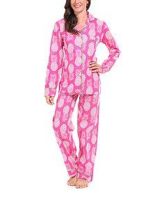 Look at this #zulilyfind! Pink Paradise Organic Pajama Set #zulilyfinds