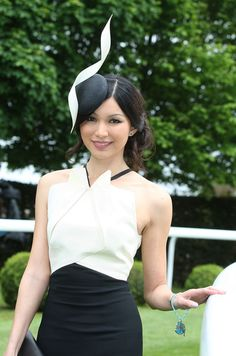 Gemma Chan chose to wear Philip Treacy as she enjoyed Derby Day at Epsom. #passion4hats