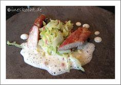 Kaninchenrücken im Parmaschinkenmantel auf Spitzkohl mit Proseccoschaumsauce - Ines kocht, www.ineskocht.de, Rezept, Herbstessen