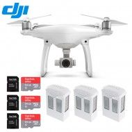 DJI Phantom 4 Drone New Series Quadcopter HD Camera with Three Extra Batteries + Three Extra SanDisk 64GB Microsdxc