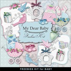 Far Far Hill - Free database of digital illustrations and papers: Freebies Kit  - My Dear Baby