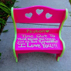 """Time Out Chair for the Classroom.... Take some """"time out ..."""