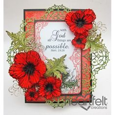 Inspirational Red Poppies - created w/ the Blazing Poppy Collection from Heartfelt Creations - Flower Cards, Paper Flowers, Poppy Cards, Heartfelt Creations Cards, Red Poppies, Yellow Roses, Pink Roses, Tags, Greeting Cards Handmade