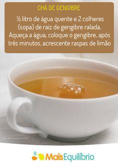 Chá de gengibre para aquecer e emagrecer