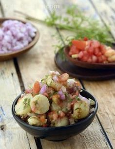Aloochaat is perfect for a cold day as it is nice and spicy, but it is a wonderful choice for hot days as well as it has no oil and is relatively light. In short, it is an anytime, anywhere snack. Made with just common ingredients, it can really be made whenever you wish.