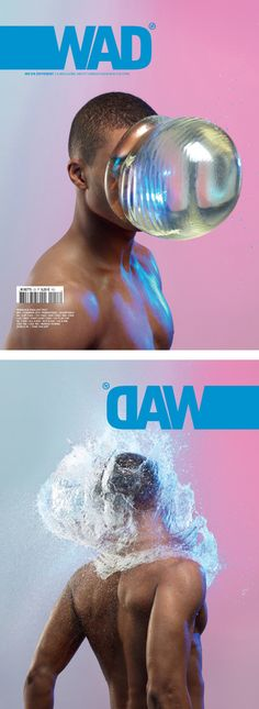 Thought the front and back cover relate to one another, maybe something we could look at? WAD magazine. Cover by Romain Laurent