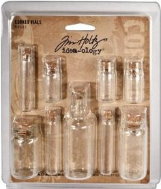 Tim Holtz idea-ology Corked Vials Embellishments, Pack of 9: Amazon.co.uk: Kitchen & Home