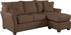 New sofa (?) -- I think this would be the color too...  Eden Sofa & Ottoman W/ Chaise Cushion by La-Z-Boy