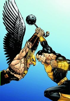 Hawkman vs Black Adam by Doug Mahnke