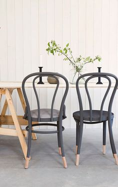 Bentwood chairs are made by wetting and then bending wood into shapes (hence the name) and are over 150 years old. Thonet's iconic No.14 chair now graces the f