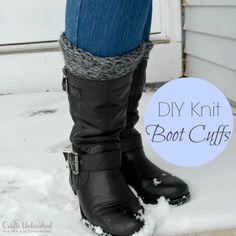 Easy DIY Loom-Knit Boot Cuffs