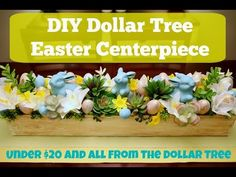 DIY Dollar Tree Decor - How to Make an Easter Centerpiece - YouTube