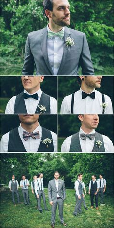 assorted grey groomsmen atire