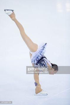 Alina Zagitova of Russia competes in the Ladies Short Program during day one of the ISU Grand Prix of Figure Skating at Polesud Ice Skating Rink on November 17, 2017 in Grenoble, France.