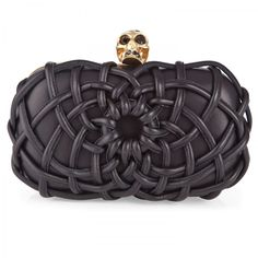 Woven leather skull box clutch, Clutches, Harvey Nichols Store View