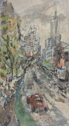 Stella Downer Fine Art - Dealer Consultant & Valuer - Featuring work by Rod Holdaway - William Street Study