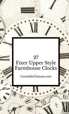 Fixer Upper Style Farmhouse Clocks|Fixer Upper|Clocks|Wall Clocks