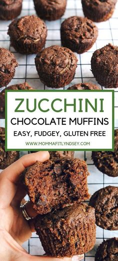 Double Chocolate Zucchini Muffins Healthy Chocolate Zucchini Bread Muffins Gluten Free Delicious for a dessert or breakfastHealthy Chocolate Zucchini Bread Muffins Gluten. Healthy Chocolate Zucchini Bread, Zucchini Bread Muffins, Double Chocolate Zucchini Muffins, Gluten Free Zuchinni Muffins, Healthy Chocolate Muffins, Chocolate Gluten Free Desserts, Zucchini Desserts, Bacon Zucchini, Zucchini Fritters