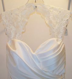 a way to add straps to a strapless wedding gown