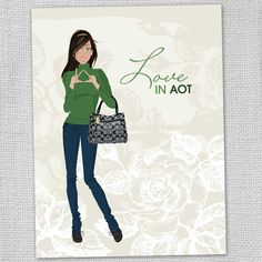 Kappa Delta Love in AOT Note Cards (Set of 8). via Etsy.