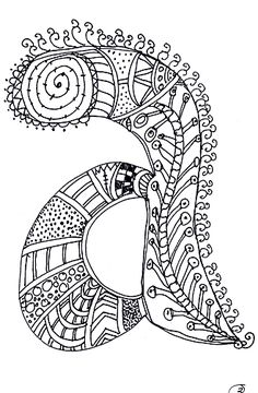 1000 images about zentangle letter