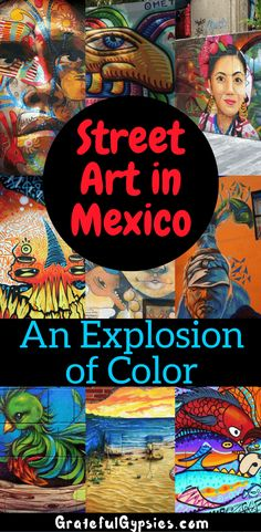 Street art in Mexico has exploded in the last couple of years. It's experiencing a bit of a renaissance, becoming popular with the help of social media. One of our favorite things to do in Mexico is find awesome murals. Check out some of the best street art in Mexico's most popular spots in this photo essay. #streetart #mexicotravel