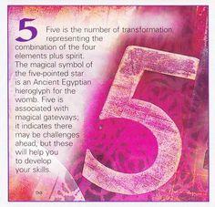 ゝ。Book of Shadows Numerical Associations the Number: 5