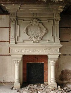 Monumental Neo-Renaissance stone mantel from the Chateau of Montgeon, Le Havre, Normandy, 19th century.