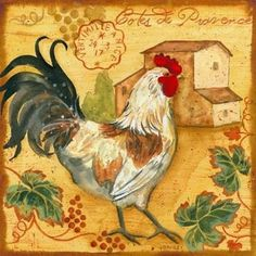 Diy Diamond painting Square diamond embroidery cock cross stitch pattern Rhinestone painting Home decorative Rooster Art, Rooster Decor, Arte Do Galo, Chicken Illustration, Chicken Pictures, Chicken Bird, Chicken Painting, Barnyard Animals, Chickens And Roosters