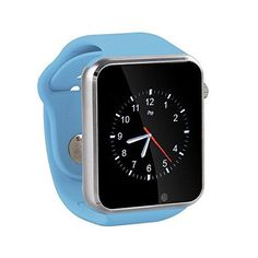JIESLINK G10 Smart Watch Phone BluetoothEasy ConnectionMake CallsSupport SIMTF for Apple iPhone 5s66s and Android 42 or Above Smart Phones Blue *** More info could be found at the image url.