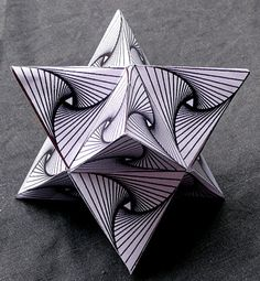 op art star with template