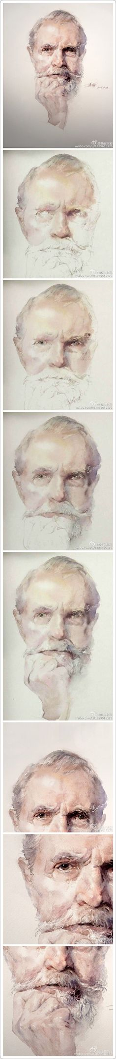 Pencil Portrait Mastery - 微博晚安水彩 水彩教程 - Discover The Secrets Of Drawing Realistic Pencil Portraits