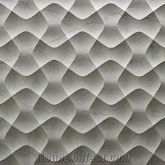 3D CNC Natural Beige Stone Carving Wall Panel, Beige Marble Wall Panel