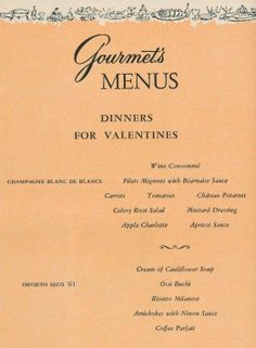 valentines day 2016 menu ideas