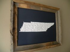 Tennessee In A Nutshell Word Art Map Print by fortheloveofmaps, $22.00