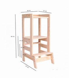 Toddler Kitchen Stool, Diy Kids Kitchen, Kitchen Step Stool, Kitchen Stools, Kids Step Stools, Diy Wooden Projects, Wooden Diy, Childrens Kitchens, Learning Tower