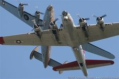 Non-british alert: B-24 Liberator and a B-17 Flying fortress, two of the USA's mist iconic bomber aircraft that helped pave the way to Allied success in WW2 and beyond.