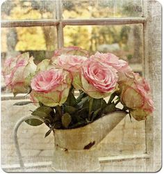 3 d fowers in a watering can simple beautiful - Google Search