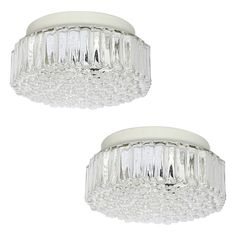 Vintage bellova flush mount light fixture doors light ideas pair of bubble glass flush mount fixtures or wall lights by staff 1960s mozeypictures Choice Image
